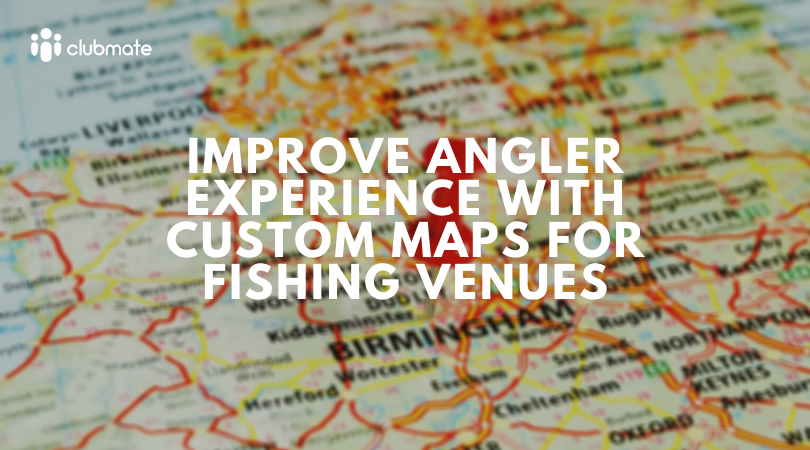 Improve angler experience with custom maps for fishing venues